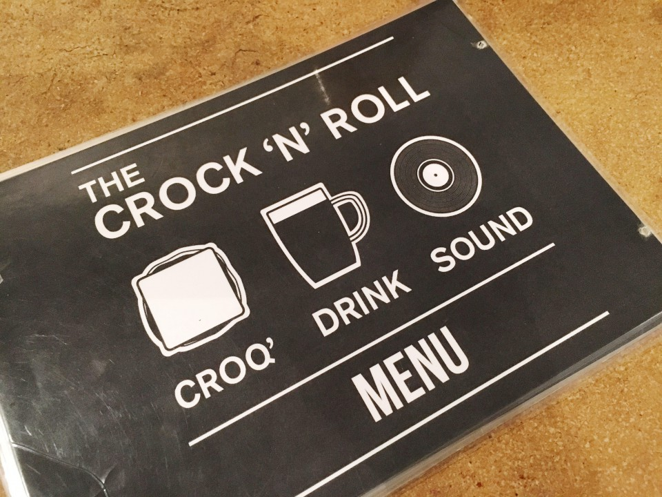 Menu The Crock 'N' Roll - Lyon.