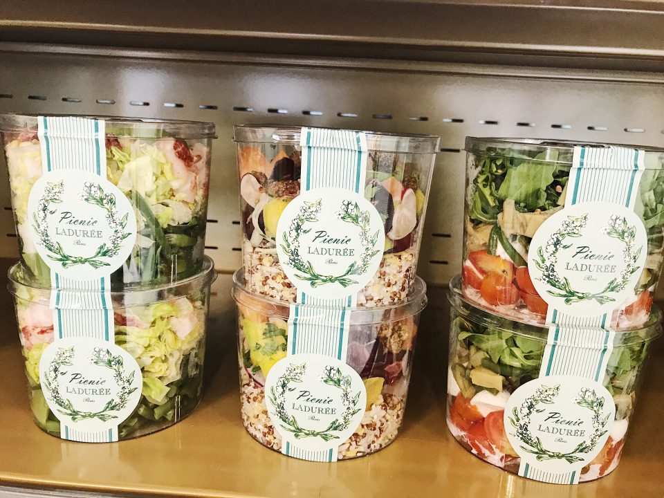 Salades Picnic Ladurée.