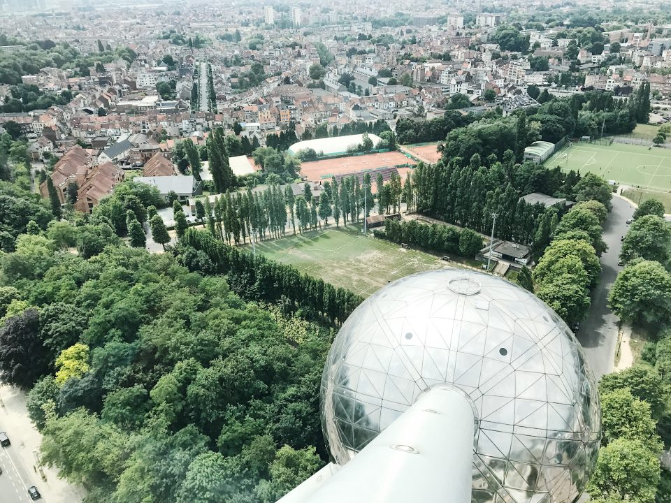 Vue de l'Atomium.