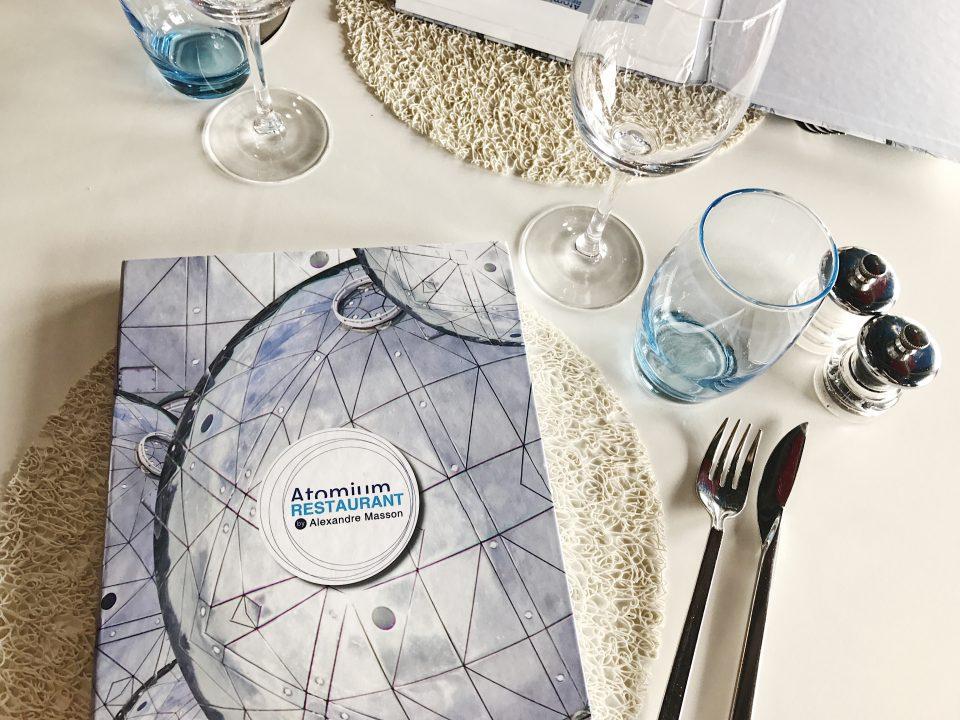Atomium Restaurant - menu.