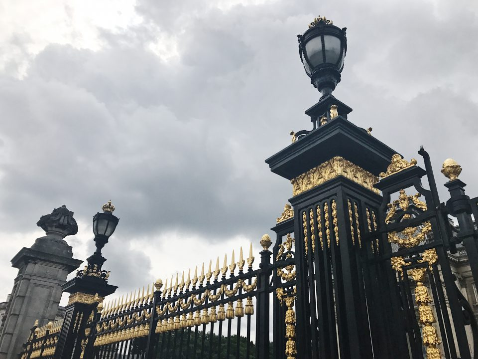 Portail du Palais Royal de Bruxelles.