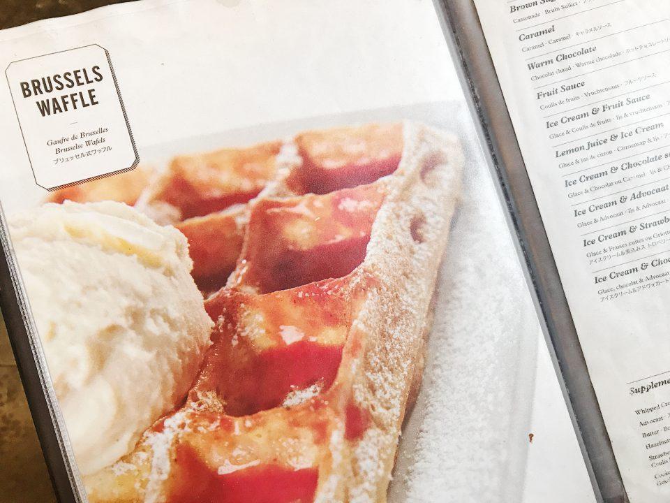 Brussels Waffle de la Maison Dandoy.