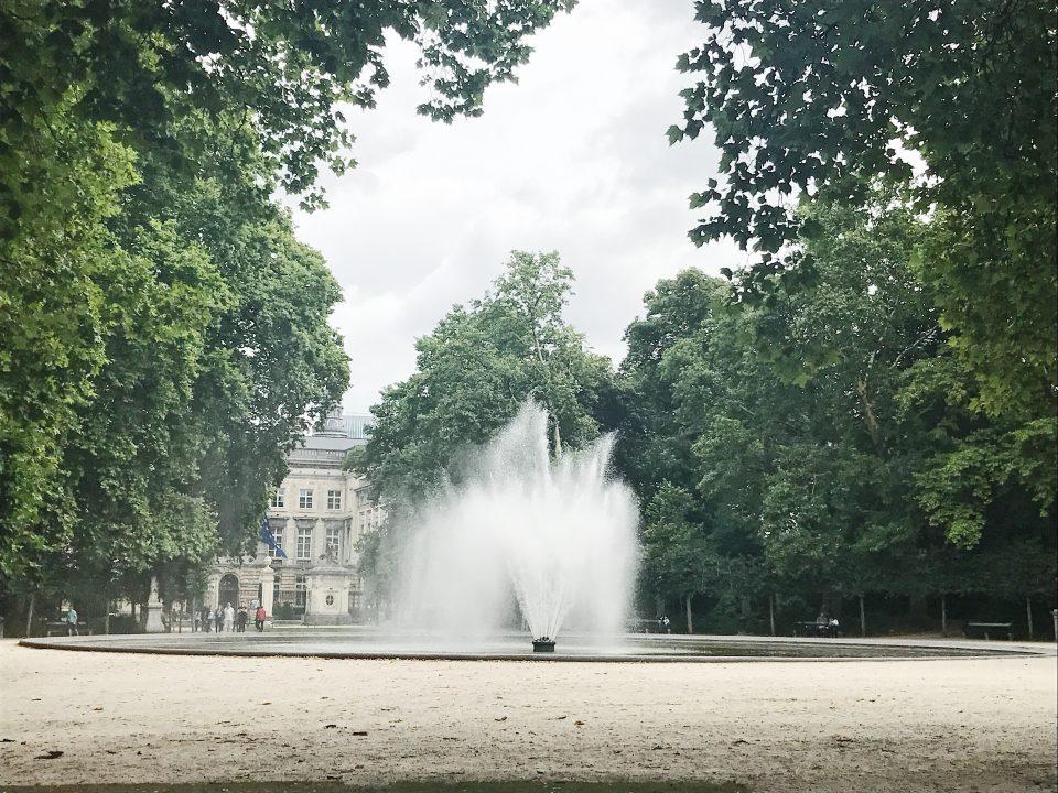 Fontaine du parc de Bruxelles.