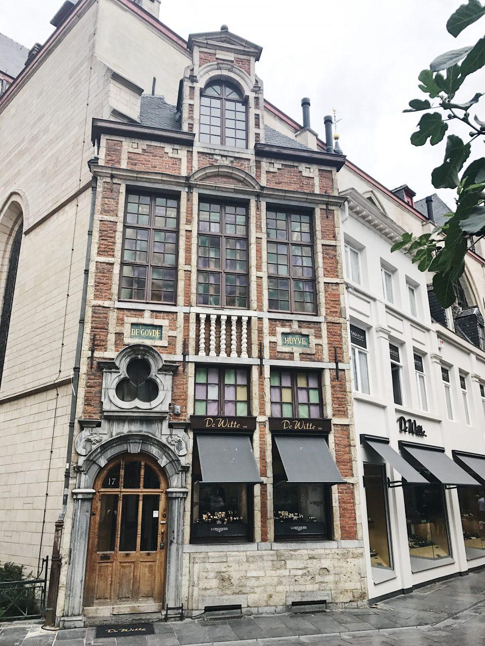Maison traditionnelle de Bruxelles.