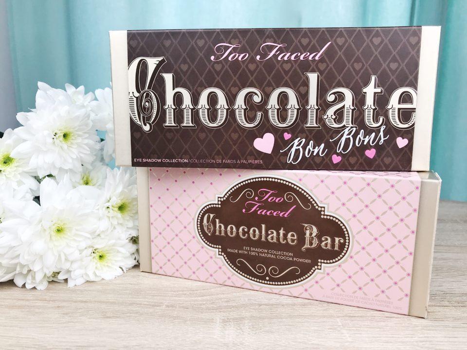 Palettes Chocolate Bar et Chocolate Bonbons de Too Faced.
