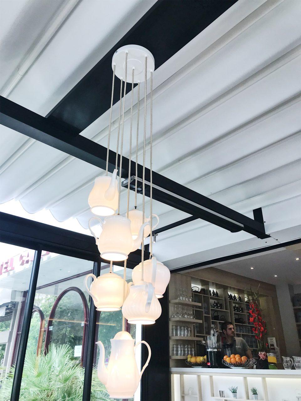 Lustre du salon de thé Volupté Anytime - Nice.