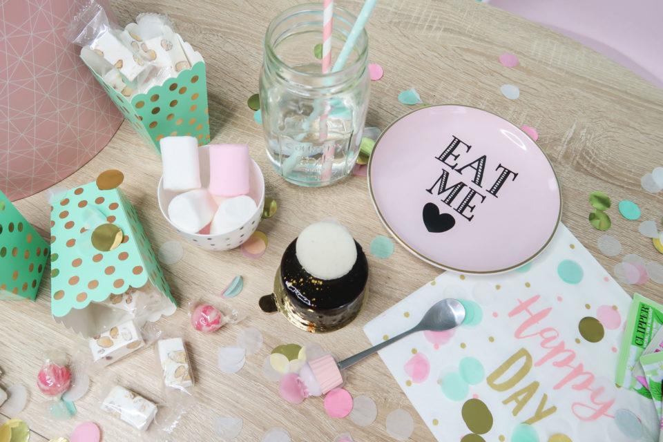 Goûter d'anniversaire pastel assiette Est Me Miss Etoile - Le Poudrier de Fleur.