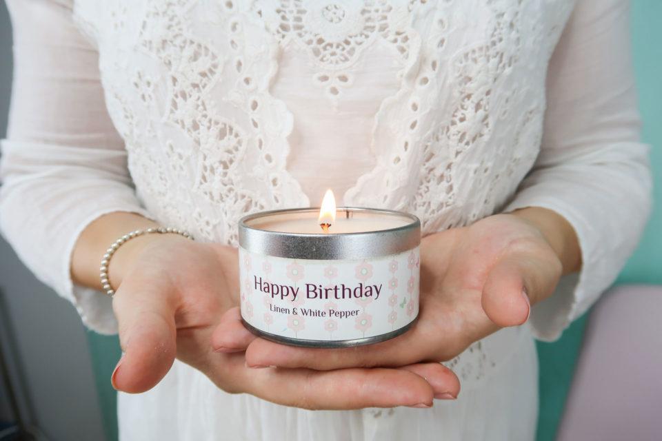 Bougie d'anniversaire Happy Birthday.