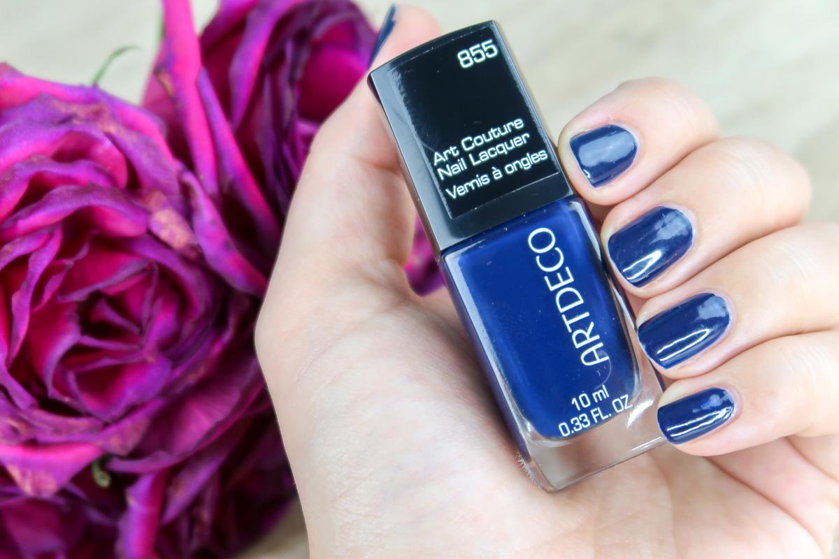 """Vernis à ongles """"855 - Ink Blue"""", ARTDECO."""