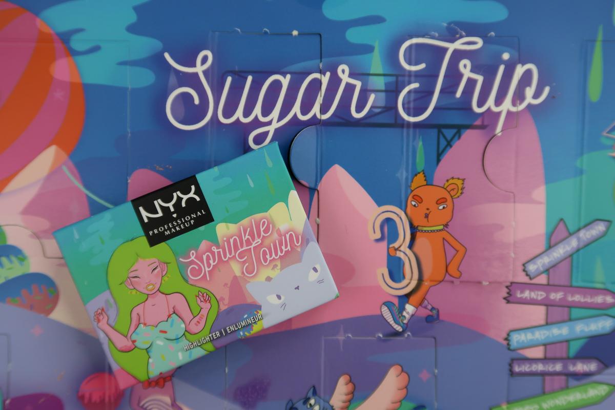 Sprinkle Town Highlighter POP N' ROCK fermé - calendrier de l'avent Sugar Trip de NYX.
