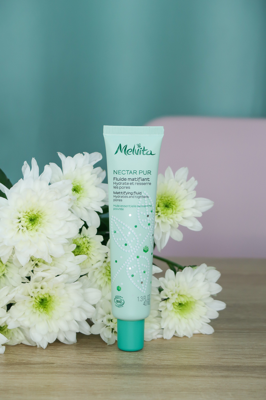 Fluide Matifiant de la gamme Nectar Pur - Melvita.