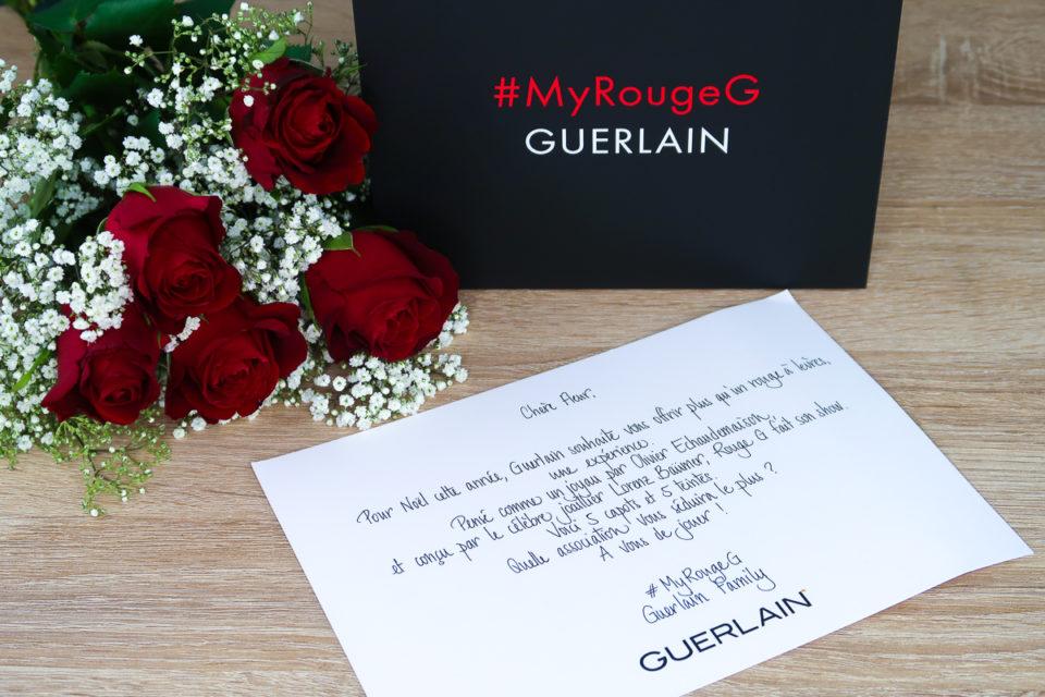 Petit mot de l'équipe Guerlain - #MyRougeG.