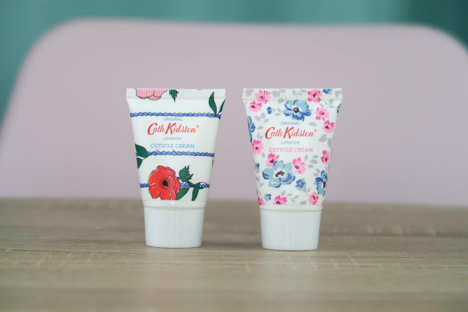 Crèmes cuticules Posy Bunch et Wild Rose & Quince présentes dans le calendrier de l'avent Cath Kidston 2018.