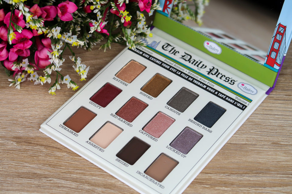 Zoom sur la palette (ouverte) Foiled Again, the Balm.