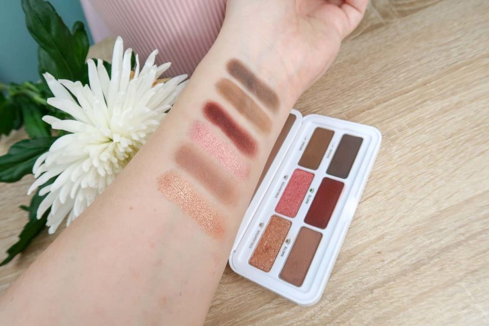 Swatches de la Palette Ready in a Flash de CLARINS.