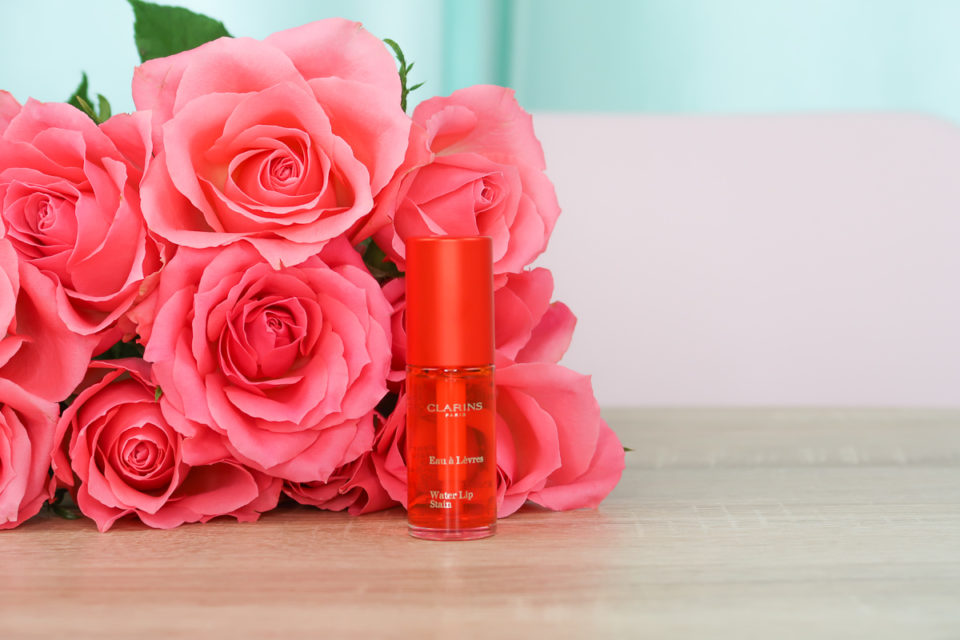 "Water Lip Stain de CLARINS en teinte ""02 Orange Water""."
