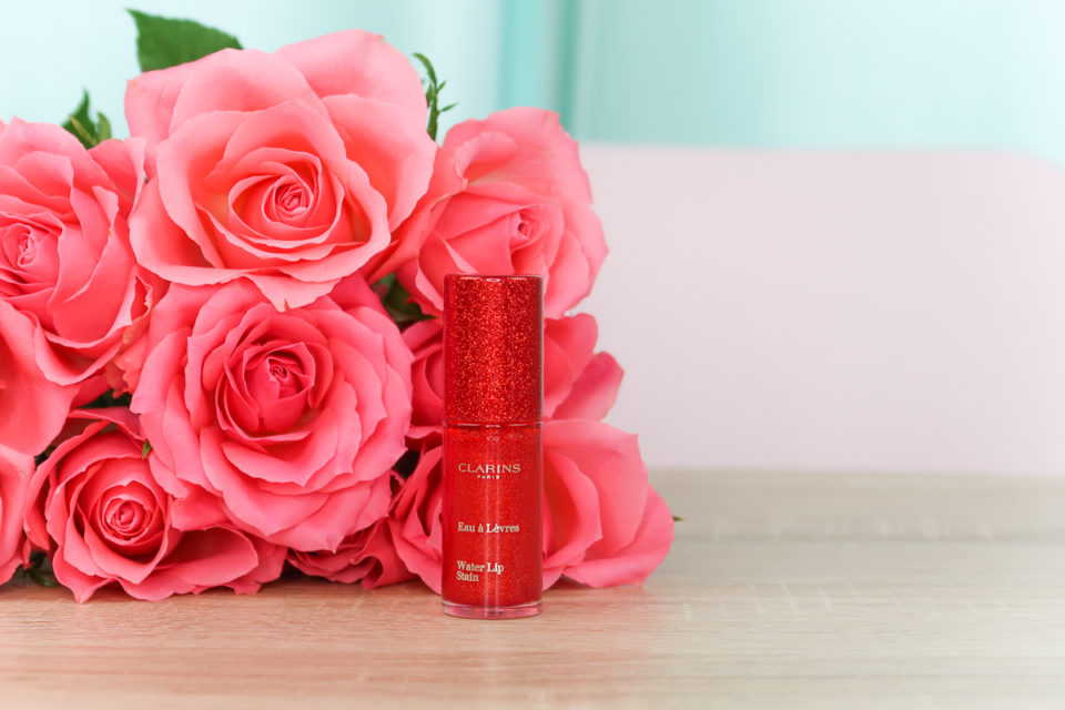 "Water Lip Stain de CLARINS en teinte ""06 Sparkling Red Water""."