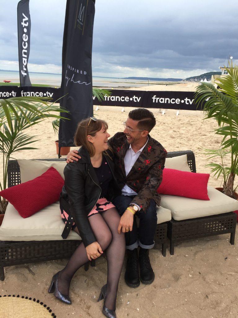 Karim Sattar et moi, au Festival du Film de Cabourg (édition 2019).