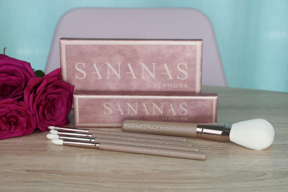 Palettes et pinceaux SANANAS x SEPHORA COLLECTION.