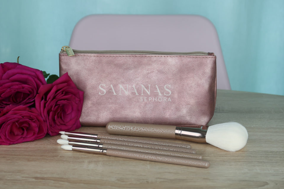 Set de 5 Pinceaux Visage et Yeux, SANANAS x SEPHORA COLLECTION.
